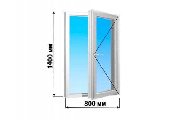 Окно 1 створка 800х1400 (1 вариант открытия)