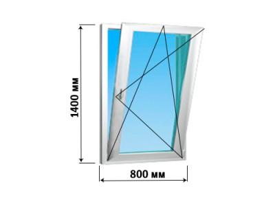 Окно створка 800х1400 (2 варианта открытия)