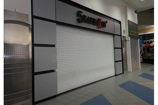 Рольставни торговый павильон, профиль AR55m